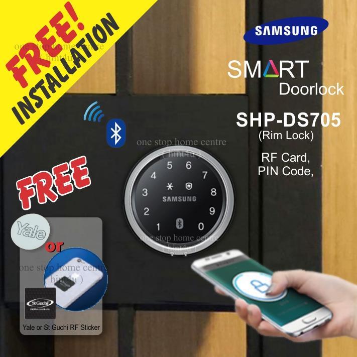 Gift Yale or St Guchi x1) SAMSUNG SHP DS705 ( GATE ) Digital Door Lock