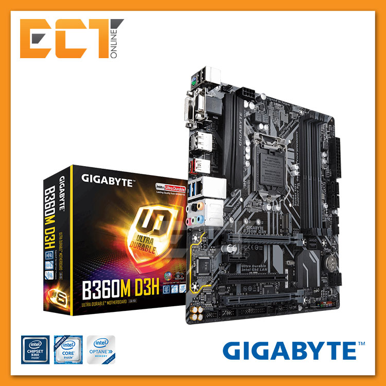 Gigabyte B360M D3H Optane Memory Ready CrossFire M-ATX Motherboard