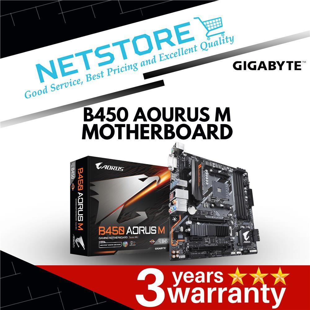 GIGABYTE B450 AORUS M AMD RYZEN AM4 B450 mATX Motherboard