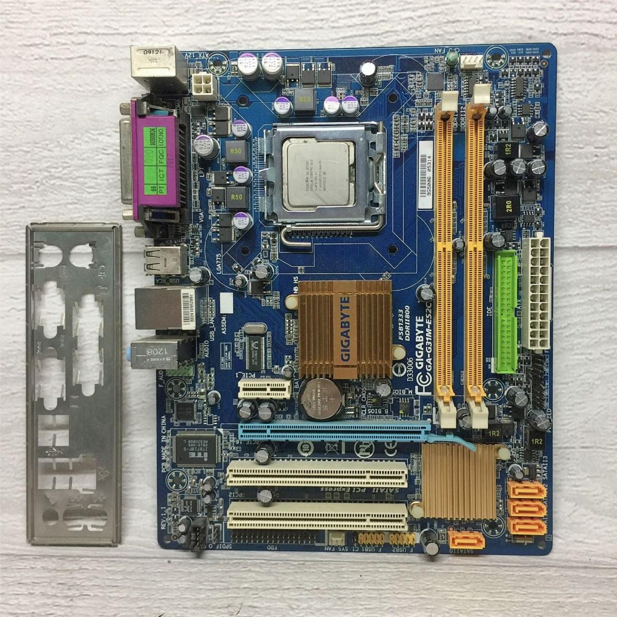 Gigabyte G31M-ES2C G31 775 DDR2 Motherboard (Free E7400 2.80Ghz CPU)