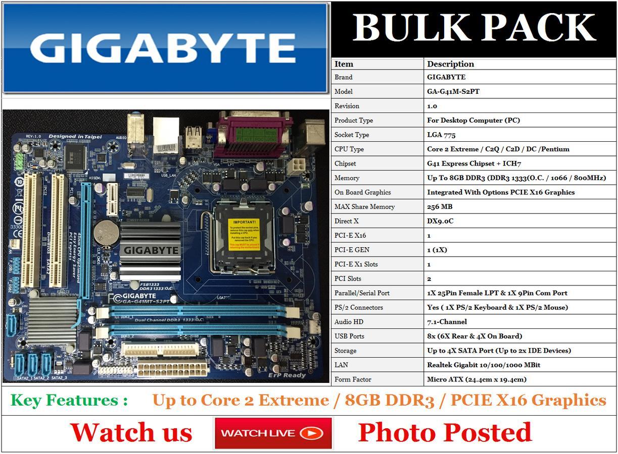 GIGABYTE G41MT-S2PT AUDIO DRIVERS FOR PC