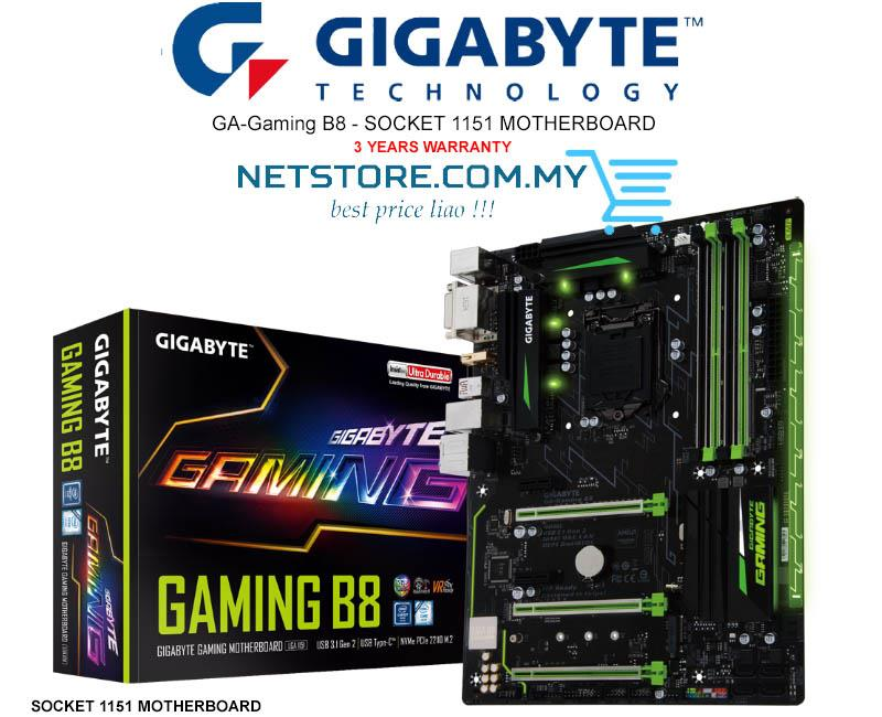 gigabyte ga gaming b8 mobo 7th 6th gen intel cpu socket 1151 netstorecommy 1703 12 Netstorecommy@49 gigabyte ga gaming b8 mobo 7th 6th (end 3 12 2018 1 15 pm)  at bakdesigns.co