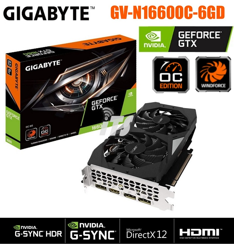 Gigabyte GeForce GTX 1660 OC 6GB GDDR6 Graphics Card