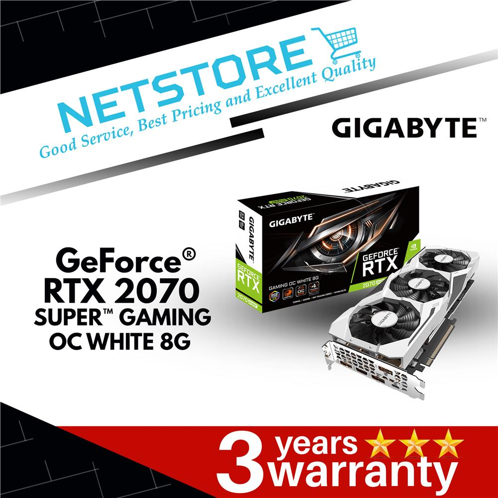 GIGABYTE GeForce RTX 2070 SUPER GAMING GV-N207SGAMINGOC WHITE-8GC