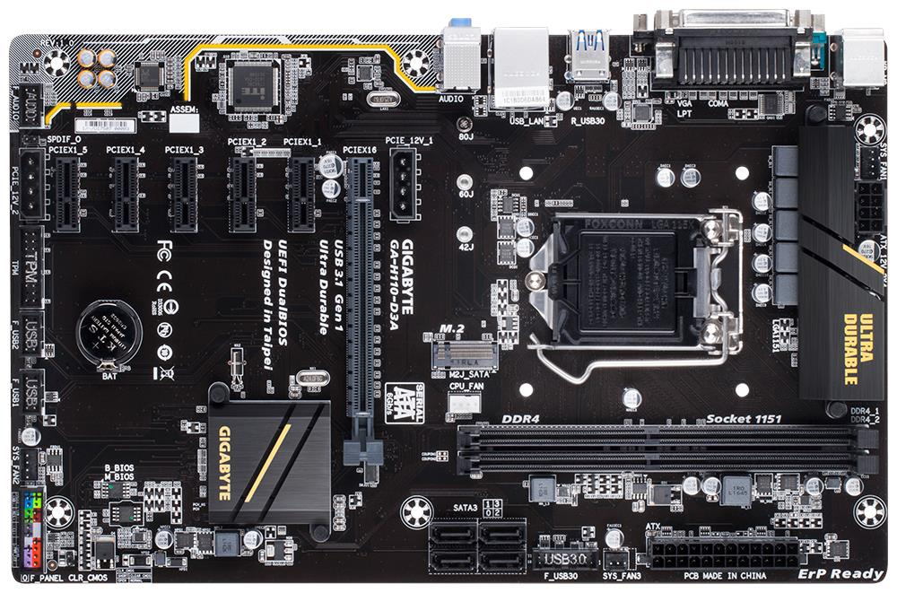 Gigabyte H110-D3A Motherboard *Mining mobo