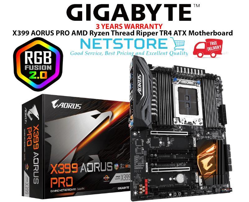 GIGABYTE X399 AORUS PRO AMD Ryzen Thread Ripper TR4 ATX Motherboard
