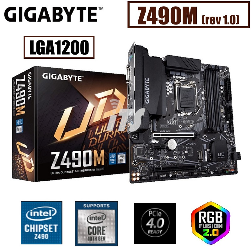 Gigabyte Z490M LGA1200 Mainboard - 10th Gen Ready