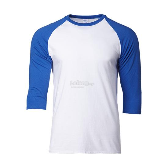 Gildan Premium Cotton Adult 3/4 Sleeve Raglan T-shirt 76700