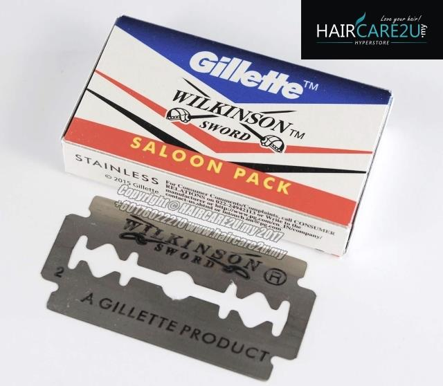 Gillette Wilkinson Sword Stainless Steel Double Edge Razor Blades
