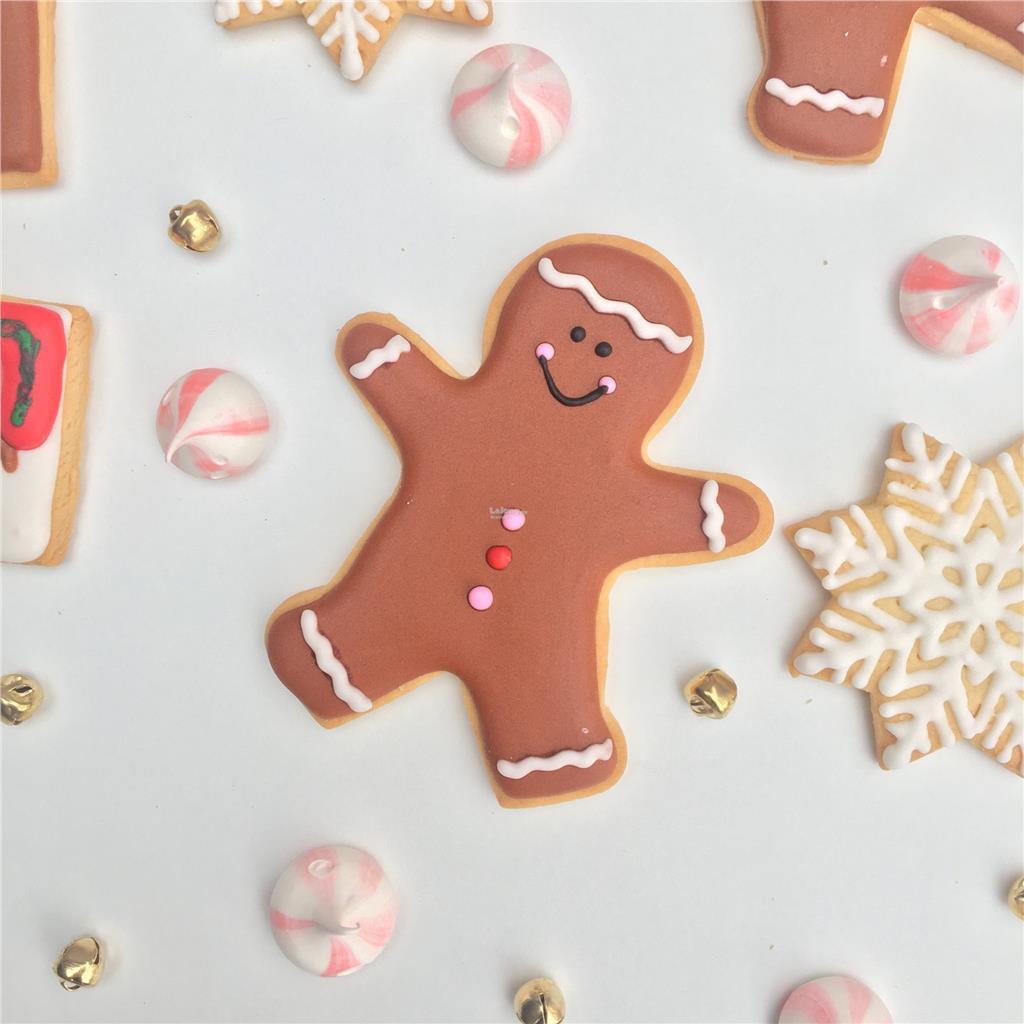 Gingerbreadman Sugar Cookies 5 Pcs