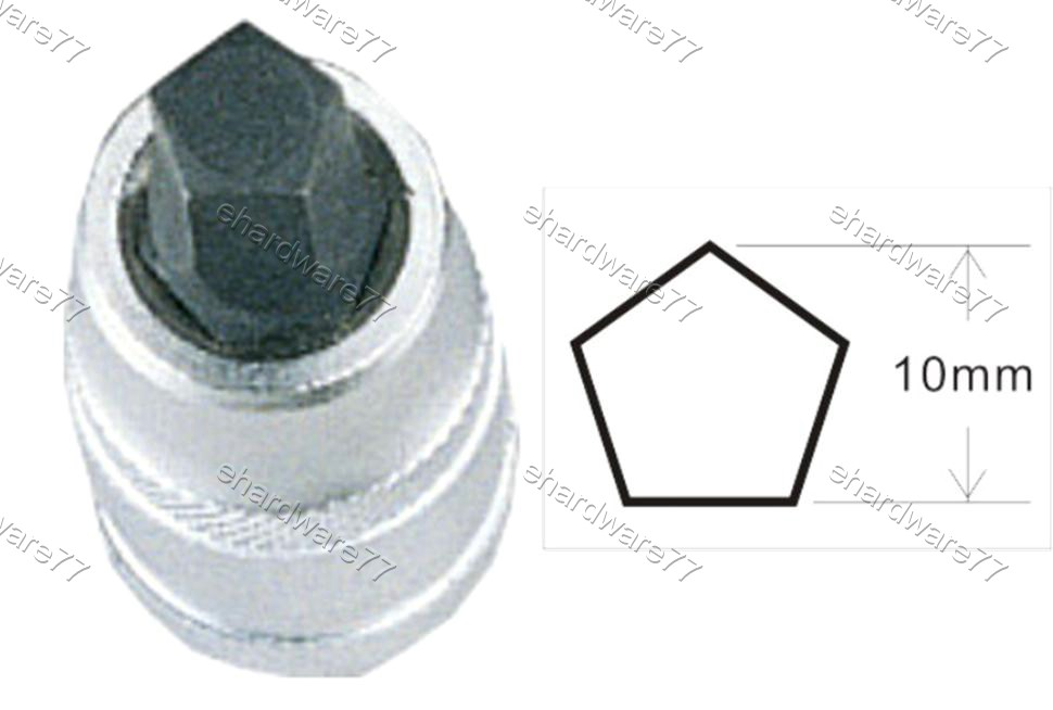 GIRLING BRAKE PENTANGLE BIT SOCKET 10MM (1365)