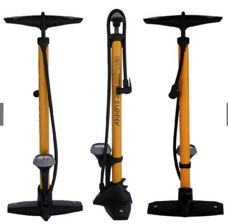 GIYO BICYCLE FLOOR PUMP 160PSI WITH GAUGE GF-55P