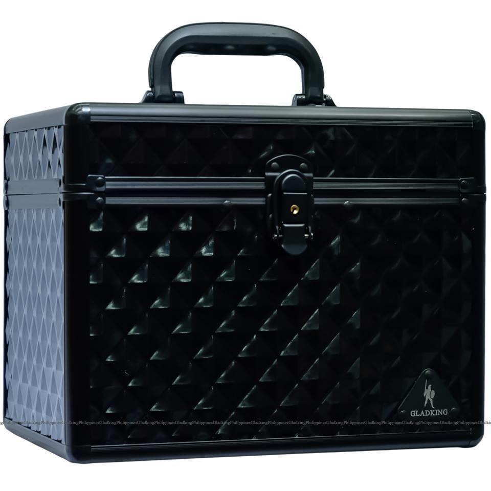 Gladking Makeup Cosmetic Hard Case Organizer Bag Black Small