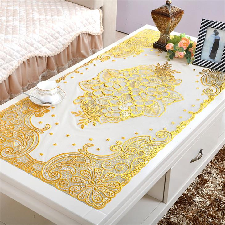 Glamour Bronzing Rectangle Placemat 60*120cm