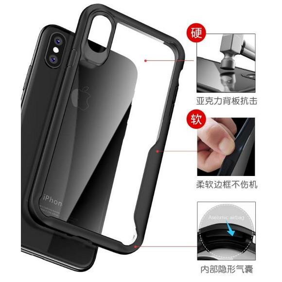 Glass Case iPhone 6 7 8 Plus X Xs Max XR Cover Bumper Airbag Casing