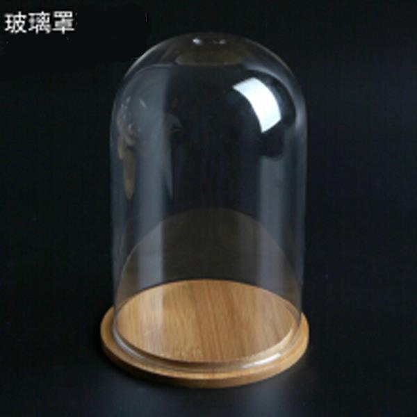 Glass Cover 9 X15 Vase Container Dome with Tray Plant Flower Decor