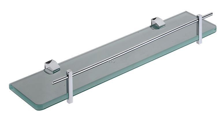 Glass Shelf With Rail - Glass Designs