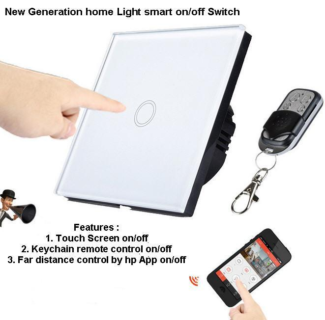 Smartphone Light Switch glass touch screen/remote/smartphone (end 1/3/2020 7:58 pm)