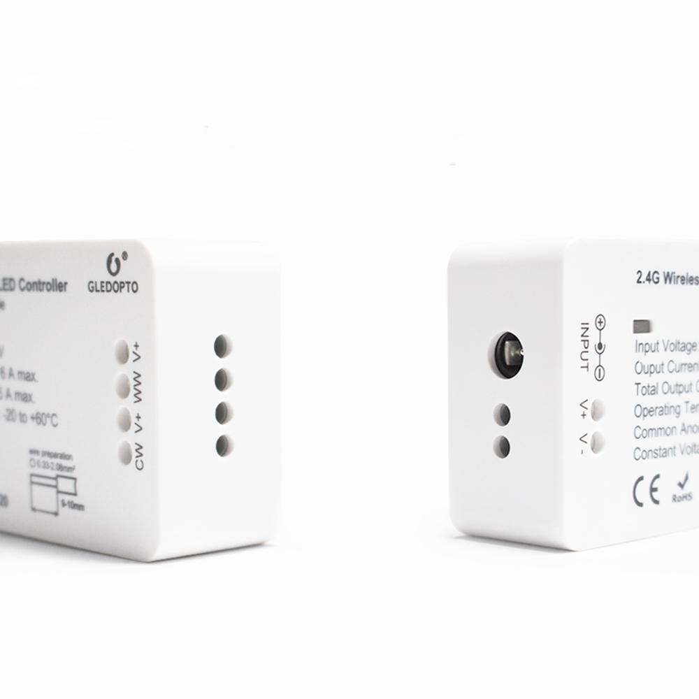 GLEDOPTO Zig Bee GL-C-006 DC12-24V WW/CW Smart LED Strip Controller Wo