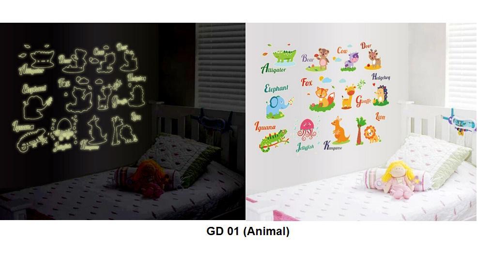 Glow In The Dark Dinosaur Wall Stickers Bahuma Sticker