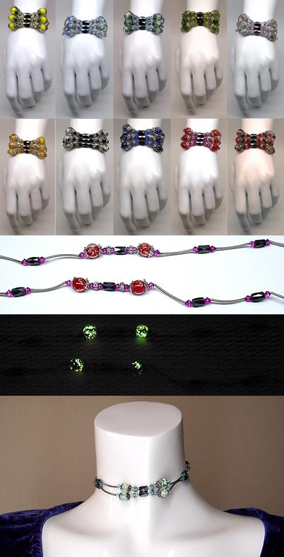 Glow In The Dark Magnetic Bracelet / Necklace