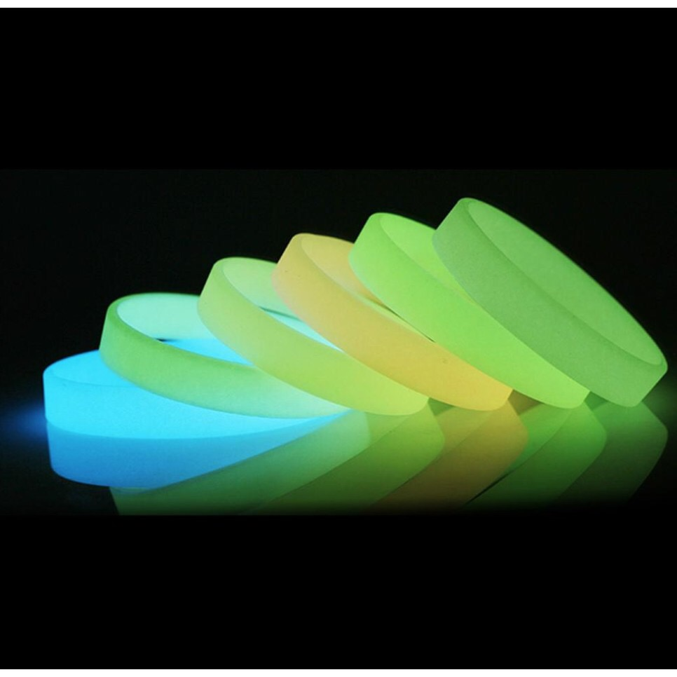 Glow In The Dark Noctilucous Silicone Rubber Wristband Bracelet