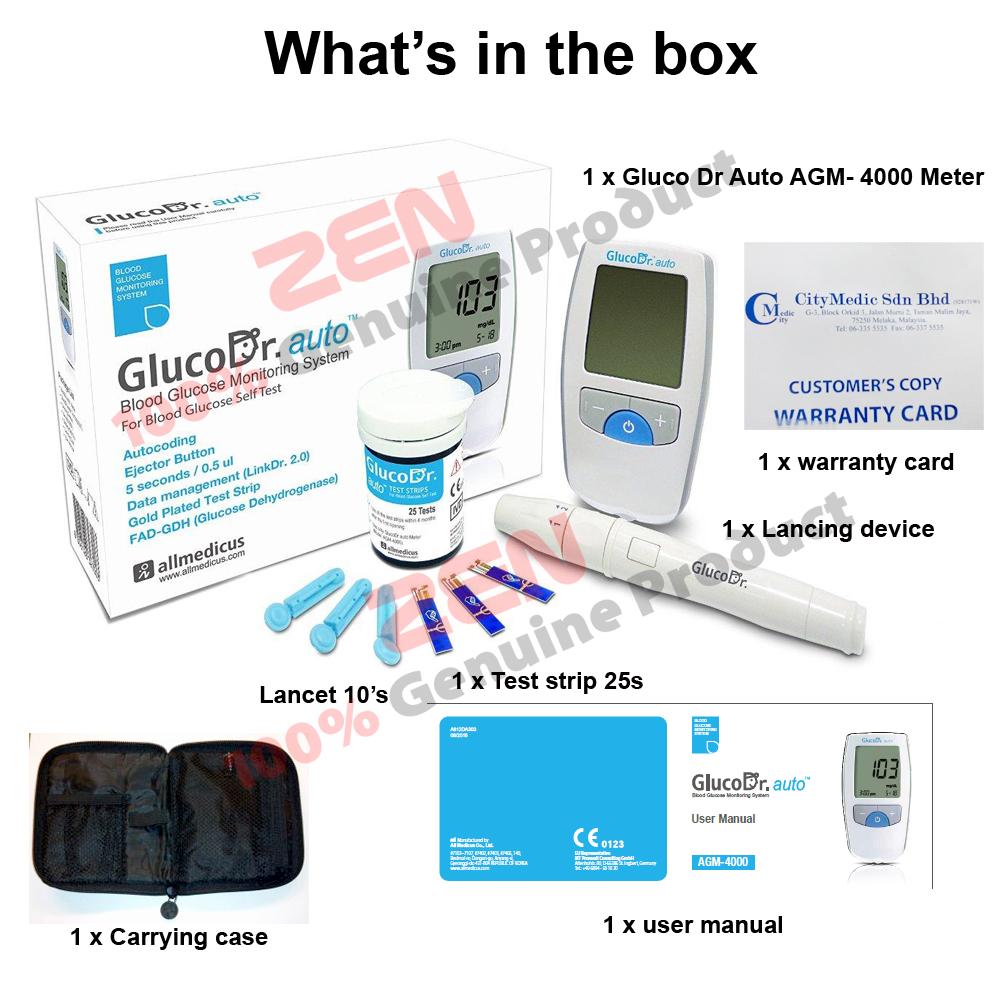 Gluco Dr Blood Glucose Test Meter Auto Agm 4000 Daftar Harga Strip Gula Darah Glucodr Supersensor 2200 Monitoring System 25 Strips Incl