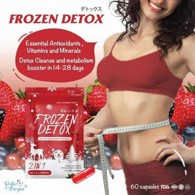 Gluta Frozen Detox & Fiberry 2 in 1 Supplement Product Slimming