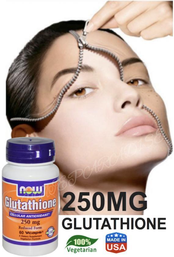Glutathione 60 Vcaps 250mg Vegetarian (Skin Whitening, Antioxident)