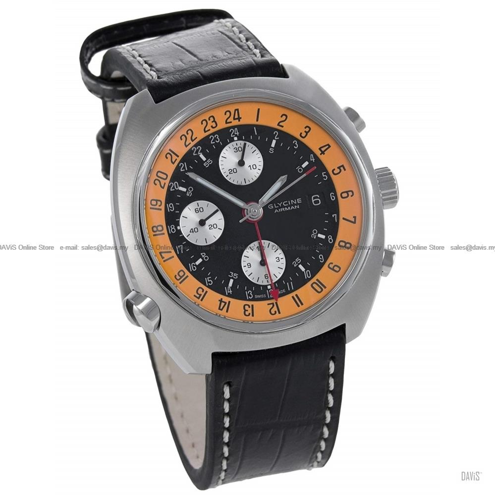 GLYCINE Watch 3902.196-LBN7 Airman SST Chrono Leather *Clearance Sale