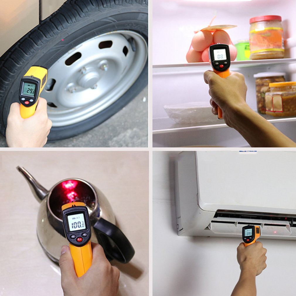 Gm320 Handheld Non-contact Ir Infrared Thermometer dgtl Lcd Laser Indu