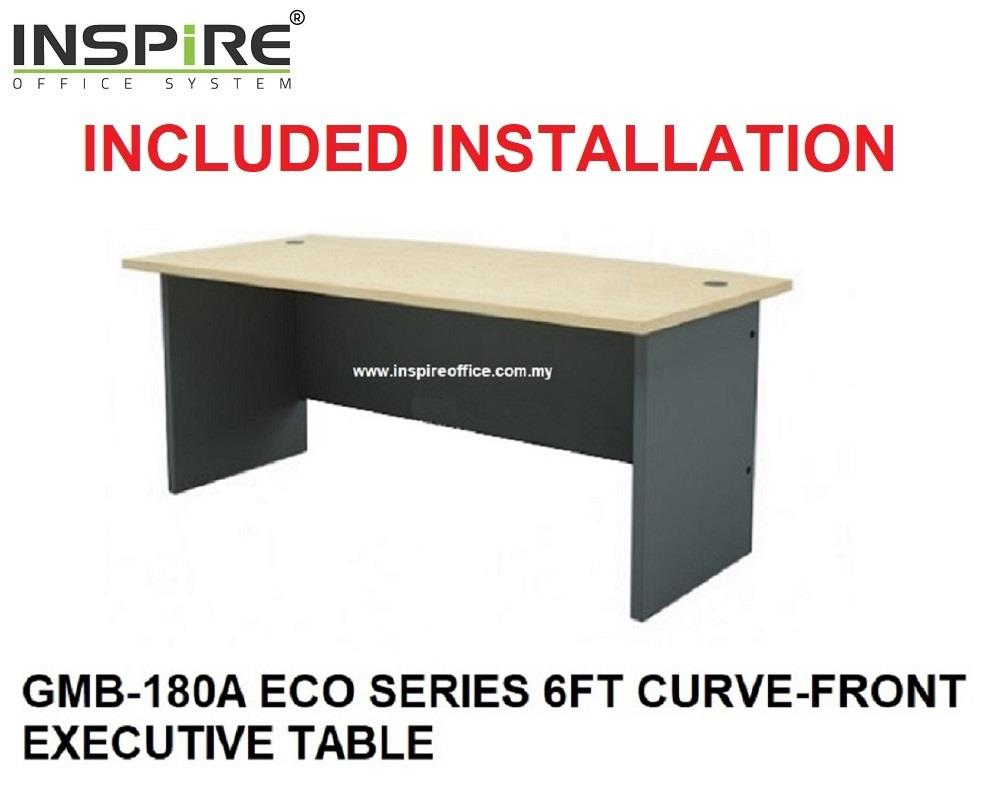 GMB-180A ECO SERIES 6FT CURVE-FRONT EXECUTIVE TABLE