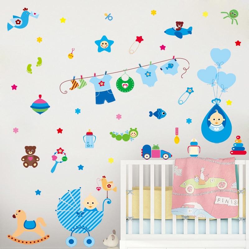 [GO2118] warm baby room wall stickers for kids rooms children bedroom