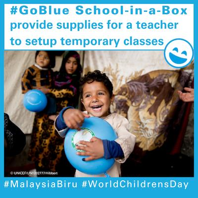 #GoBlue School-in-a-Box : provide supplies and materials for a teacher