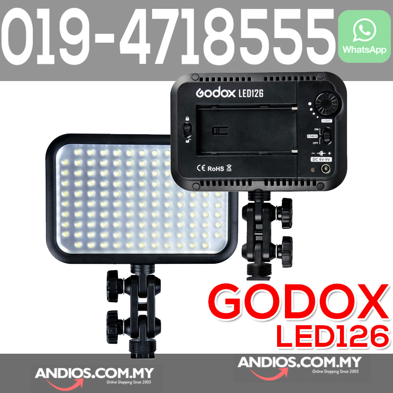 wholesale dealer 82d4b b21ff Godox LED 126 Video Lamp Light for Digital Camera Camcorder DV Canon N