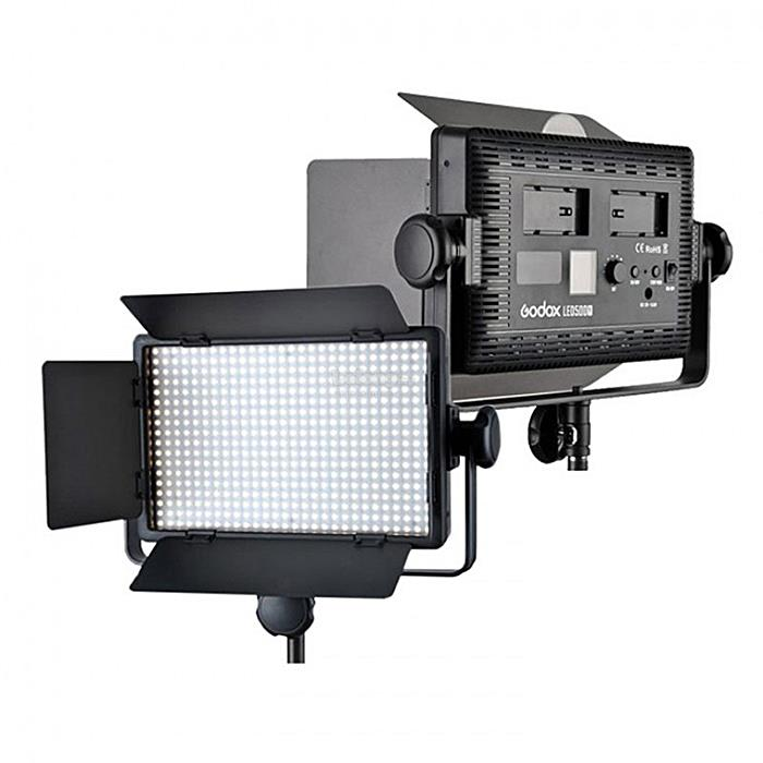 Godox LEDP500C 500 LED Video Light Adjust Color 3300-5500K FREE Stand
