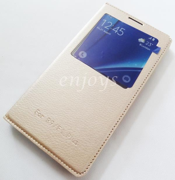 GOLD Auto Wake S View Function Cover Case Oppo F1 Plus /R9 (5.5) *XPD