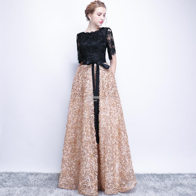 Gold and Black Gown with Pockets (end 11/2/2018 11:15 PM)