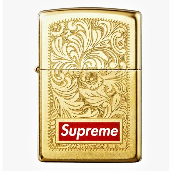finest selection f8730 2bfe9 Gold Engraving Supreme Zippo Light (end 12 19 2020 12 00 AM)