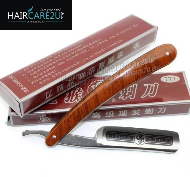 Gold Monkey 777 Straight Barber Folding Carbon Steel Shaving Razor