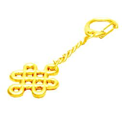 Gold Plated Mystic Knot Keychain