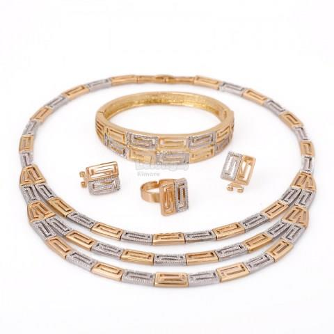 Gold-plated Silver Jewelry Set
