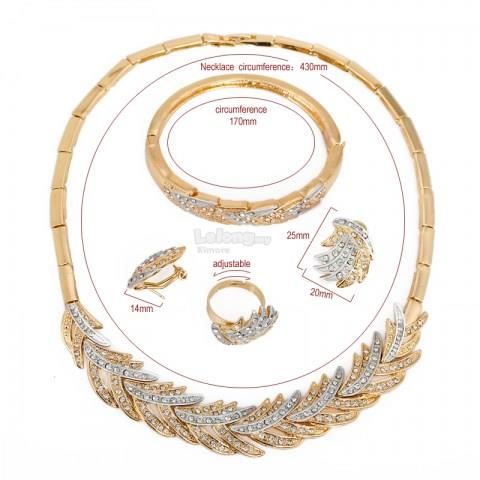 Gold Plated Women Jewelry Set