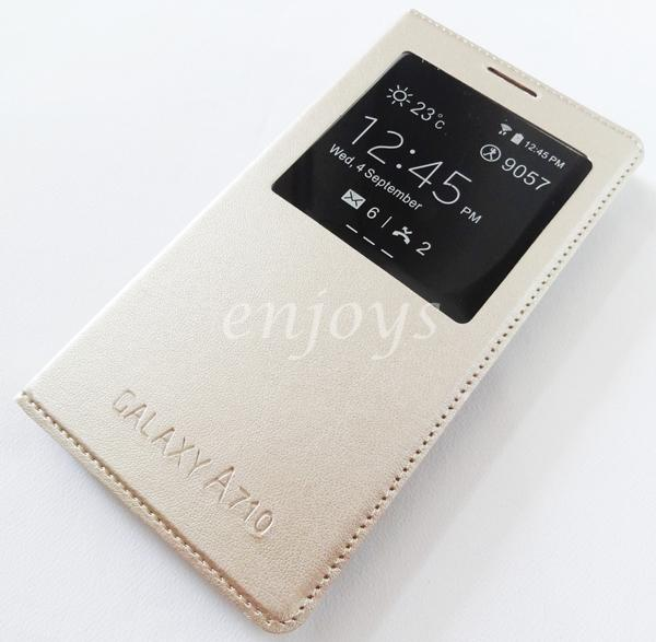 GOLD S View Case Flip Cover Samsung Galaxy A7 (2016) / A710F *XPD