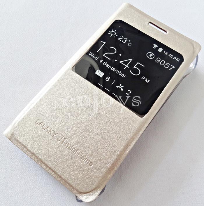 online retailer 25743 09d86 GOLD S View Cover Case Samsung Galaxy J1 mini prime /J106B (4.0) *XPD
