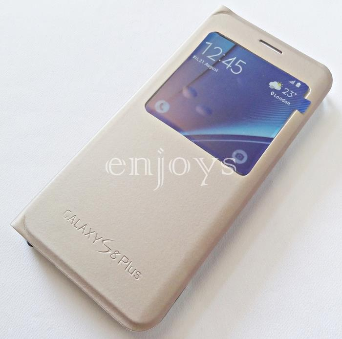 detailed look f8cd3 859f4 GOLD S View Cover Hard Case Samsung Galaxy S8+ Plus /G955F (6.2) *XPD