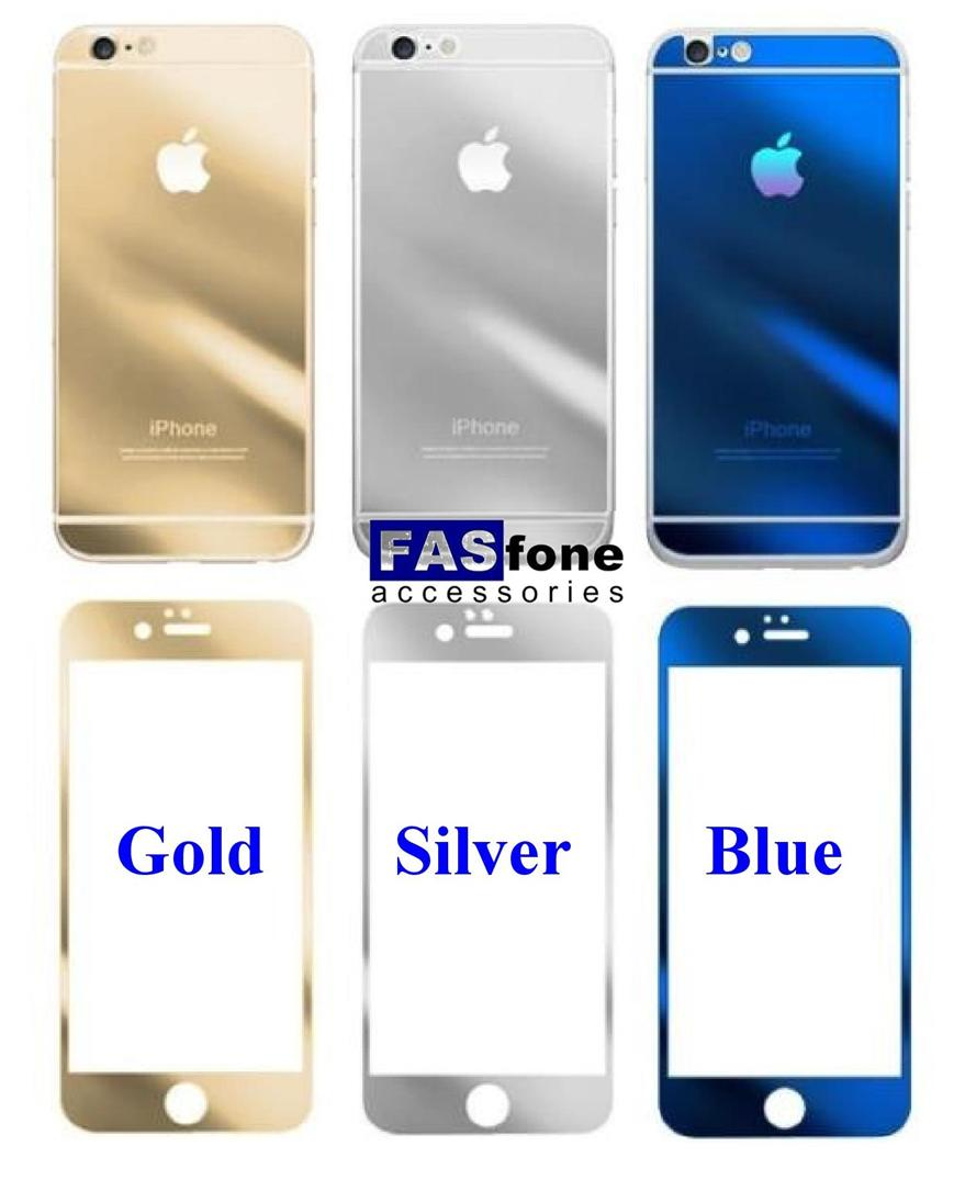 Gold Silver Blue Tempered Glass For Iphone 5 5s66