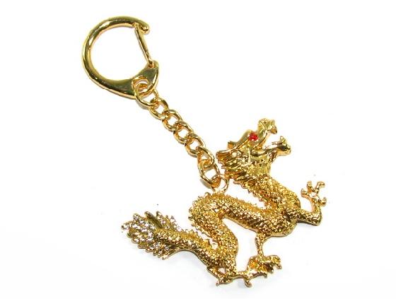 Golden Dragon Feng Shui Keychain - Feng Shui Enhancer   Cure. ‹ › 25ae28636