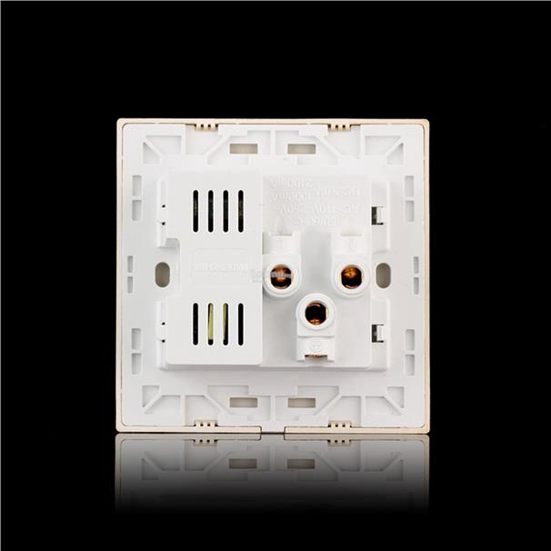 Golden Dual USB Port Electric Wall Charger Dock Socket Power Outlet Pa
