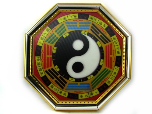Golden Fengshui Bagua (Hologram) for Protection from Sar Chi - Pakua